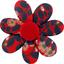 Barrette fleur marguerite feuillage vermillon - PPMC