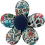 Fabrics flower hair clip flower mentholated - PPMC
