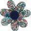 Barrette fleur marguerite fleur mentholé - PPMC