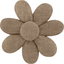 Fabrics flower hair clip gold linen