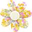 Barrette fleur marguerite mimosa jaune rose - PPMC