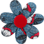 Fabrics flower hair clip flowered night - PPMC
