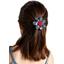 Fabrics flower hair clip flowered night