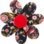 Fabrics flower hair clip ochre bird - PPMC