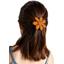 Barrette fleur marguerite paille dorée caramel
