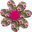 Pasador flor margarita  palmeta - PPMC
