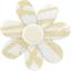 Barrette fleur marguerite ramage or - PPMC