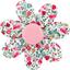 Fabrics flower hair clip rosary - PPMC