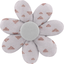 Fabrics flower hair clip gray copper triangle - PPMC