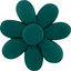Fabrics flower hair clip emerald green
