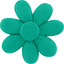 Fabrics flower hair clip green laurel - PPMC