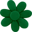 Fabrics flower hair clip bright green - PPMC