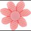 Pasador flor margarita  vichy peps - PPMC