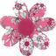 Barrette fleur marguerite violette rose - PPMC
