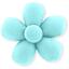 Petite barrette mini-fleur azur  - PPMC