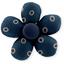 Mini flower hair slide bulle bronze marine - PPMC