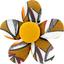 Petite barrette mini-fleur cabosses - PPMC