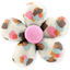 Mini flower hair slide confetti aqua - PPMC