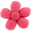 Mini flower hair slide coral