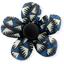 Petite barrette mini-fleur  eclats bleu nuit - PPMC