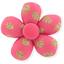 Pasador mini flor feuillage or rose - PPMC