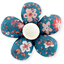 Petite barrette mini-fleur fleuri nude ardoise - PPMC