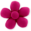 Mini flower hair slide fuschia - PPMC