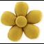 Petite barrette mini-fleur jaune ocre - PPMC