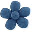 Mini flower hair slide light denim