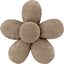 Mini flower hair slide gold linen - PPMC