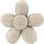 Petite barrette mini-fleur  lin pailleté - PPMC