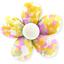 Pasador mini flor mimosa jaune rose - PPMC