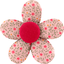 Mini flower hair slide mini pink flower - PPMC