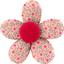 Petite barrette mini-fleur mini fleur rose - PPMC