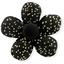 Petite barrette mini-fleur noir pailleté - PPMC