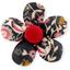 Petite barrette mini-fleur  oiseau ocre - PPMC