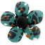 Mini flower hair slide jade panther - PPMC