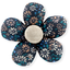 Mini flower hair slide paquerette marine - PPMC