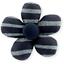 Mini flower hair slide striped silver dark blue - PPMC