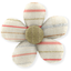 Mini flower hair slide silver pink striped - PPMC