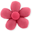 Mini flower hair slide rose pailleté - PPMC