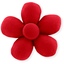 Mini flower hair slide tangerine red - PPMC