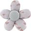 Petite barrette mini-fleur triangle cuivré gris - PPMC