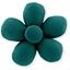 Mini flower hair slide emerald green - PPMC