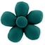 Petite barrette mini-fleur  vert émeraude - PPMC