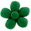 Mini flower hair slide bright green - PPMC