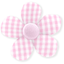 Petite barrette mini-fleur vichy rose - PPMC