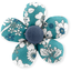 Mini flower hair slide celadon violette - PPMC