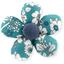 Petite barrette mini-fleur violette céladon - PPMC
