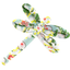 Dragonfly hair slide menthol berry - PPMC